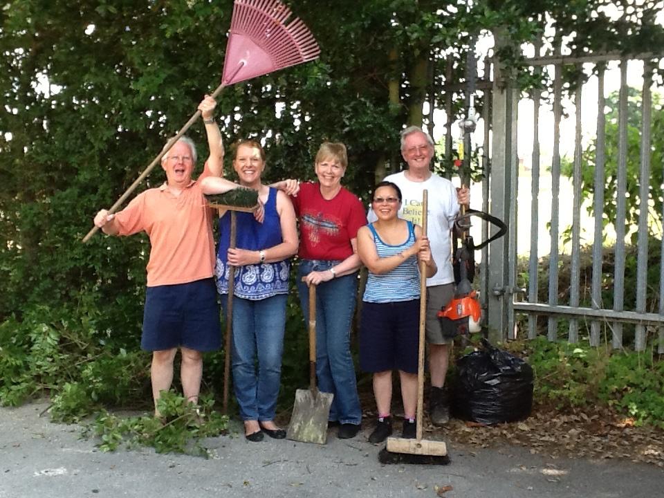 The gardening team, triumphant!