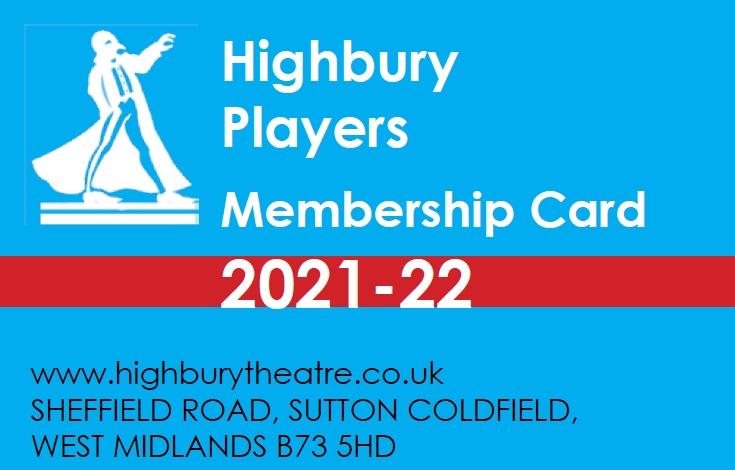 Highbury Players Membership Card 2021-2022