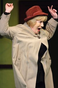 A lady screaming from the production of Lockdown In Little Grimley