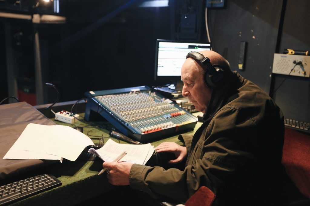 Tony doing sound for a production