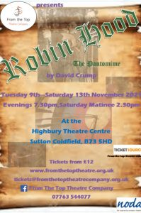 From the Top Theatre Company presents Robin Hood The Pantomime poster