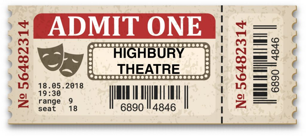 A picture of a theatre ticket